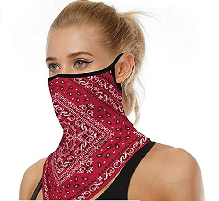 SuperX Unisex Bandana Face Mask Reusable Washable Cycling Fabric Cloth Face