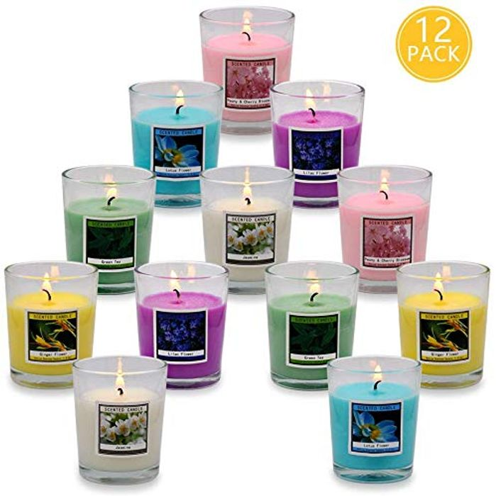Onlywax Scented Candles, Soy Wax Aromatherapy Glass Candle Gift Set