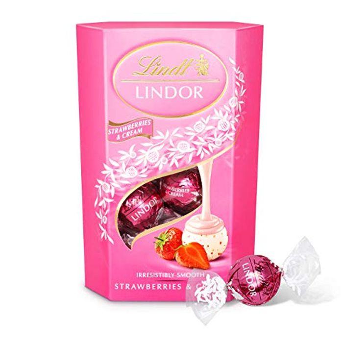 Lindt Lindor Strawberries & Cream Chocolate Box; Other Flavours Available.