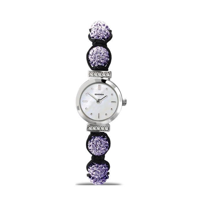 Sekonda - Pearl and Purple 'Crystalla' Watch