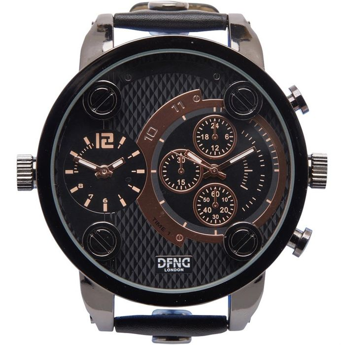 DFND London Mens Strap Dual Movement Watch X2 Independent Movements