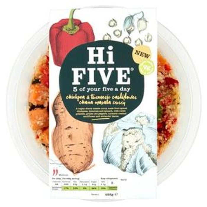 Hi Five Chickpea & Turmeric Cauliflower Chana Masala Curry 488g
