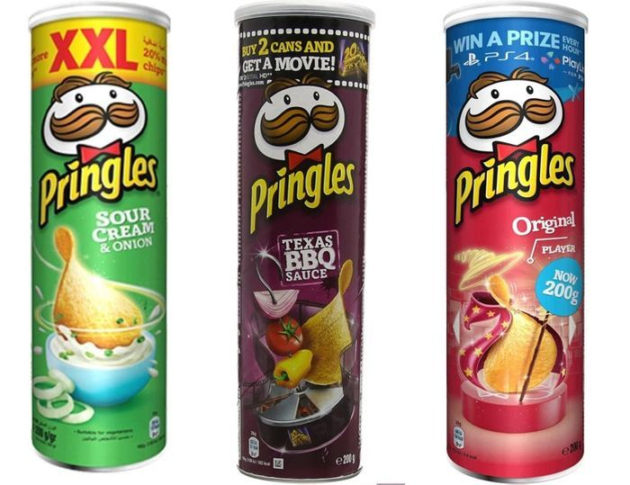 Pringles Crisps Various Flavours 200g - Only £1.25 !