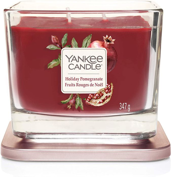 Yankee Candle Elevation Collection 3-Wick Candle, HOLIDAY POMEGRANATE