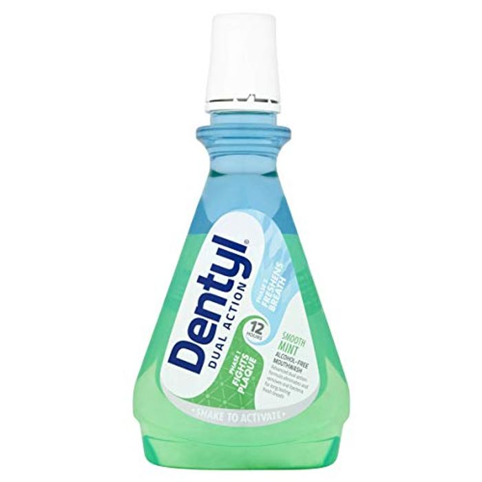 Dentyl Dual Action Smooth Mint Mouthwash, 500 ml(Fresh Clove Available Too)