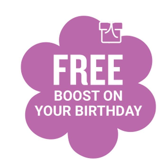 Free Birthday Boost Drink