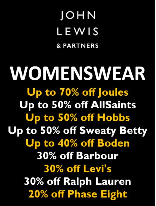 Up to 70% off Womenswear at John Lewis