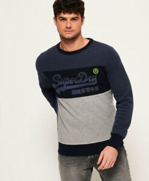 Save 64% - Superdry Men's Vintage Logo Panel Sweatshirt - £15.99