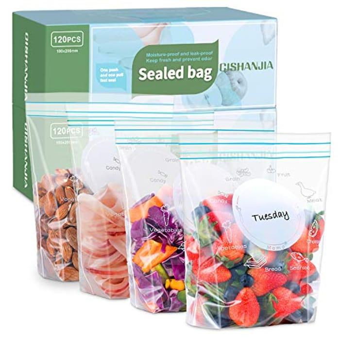 120 Zip Lock Food Bags - HALF PRICE (Prime Delivery)