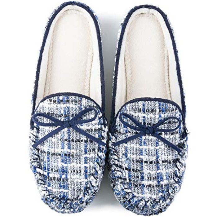 Women's Comfy Moccasin Slippers (lightning deal/20% voucher) limited sizes