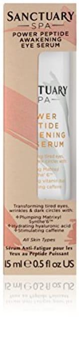 Sanctuary Spa Eye Serum, Power Peptide Awakening Eye Cream, 15 Ml