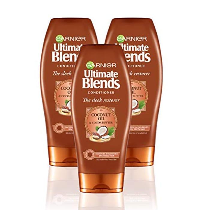 Bargain! Garnier Ultimate Blends Hair Conditioner 360ml - Pack of 3