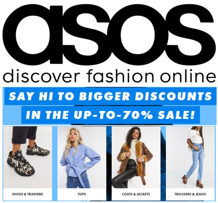 ASOS WOMEN'S SALE - up to 70% OFF