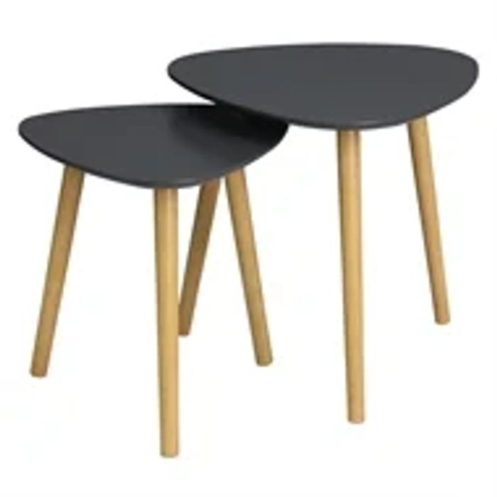 Cheap Teardrop Nest of 2 Tables - Charcoal at Homebase - Only £20!
