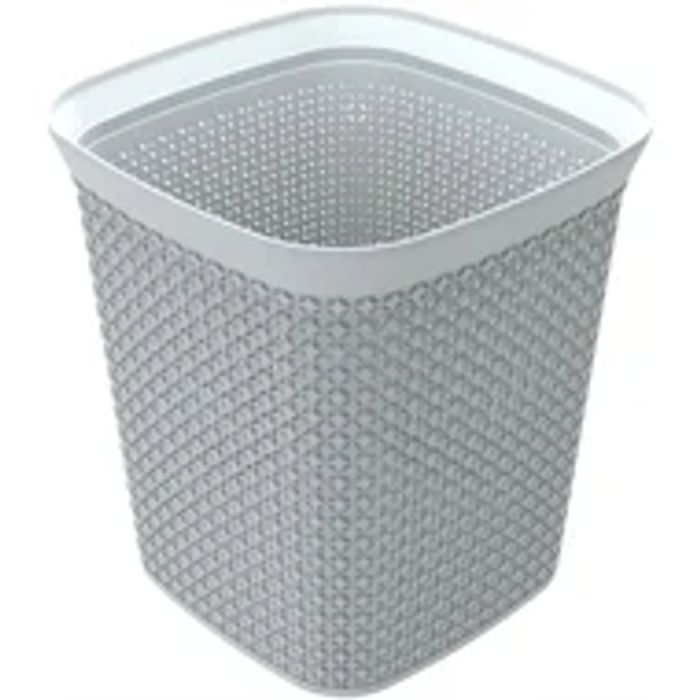 Ezy Storage Mode 13L Square Waste Bin - Available Lily & Grey