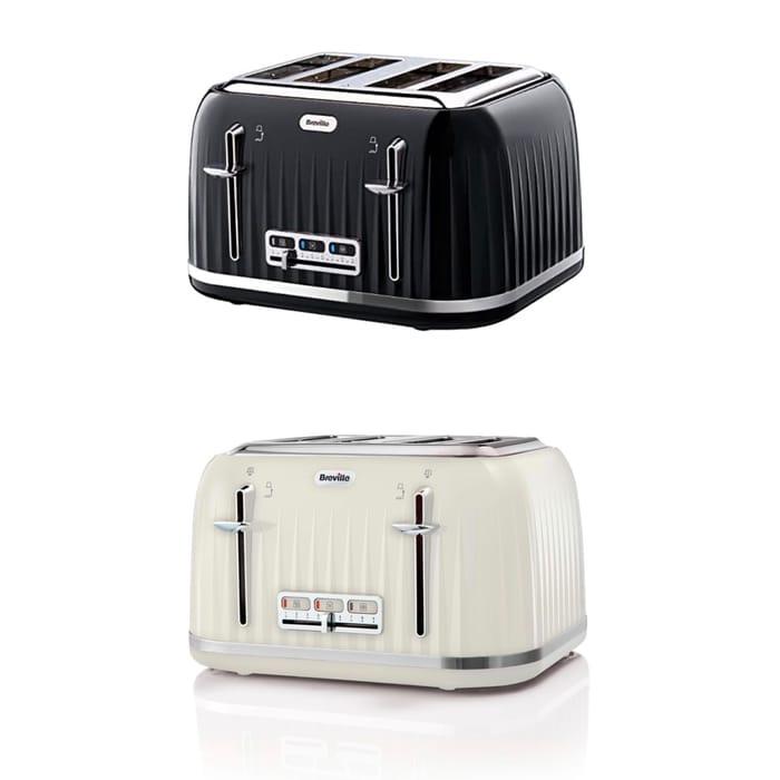 Breville Impressions 4-Slice Toaster Black or Cream