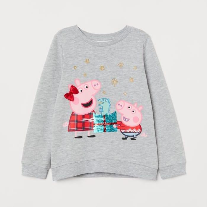 Peppa Pig Light Grey Sequins