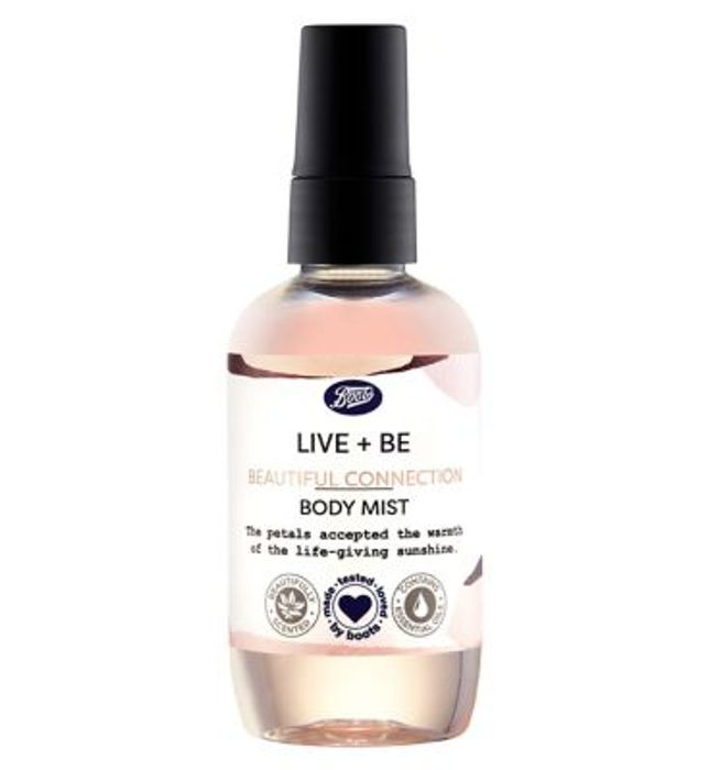 Boots Live + Be Beautiful Connection Body Mist