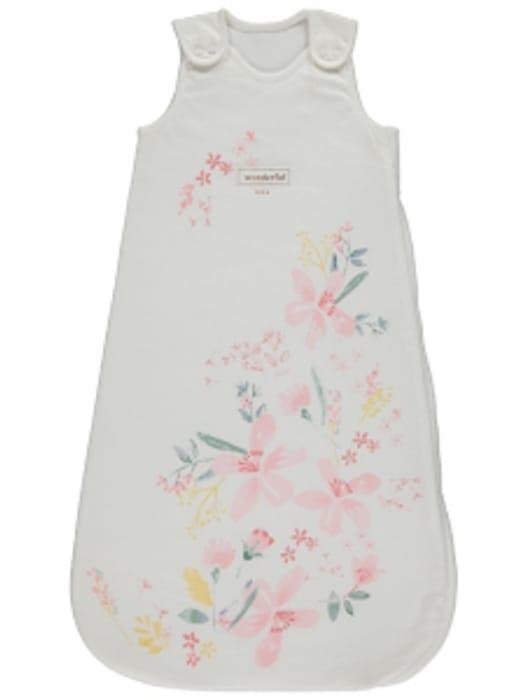 White Floral Slogan 1 Tog Sleeping Bag