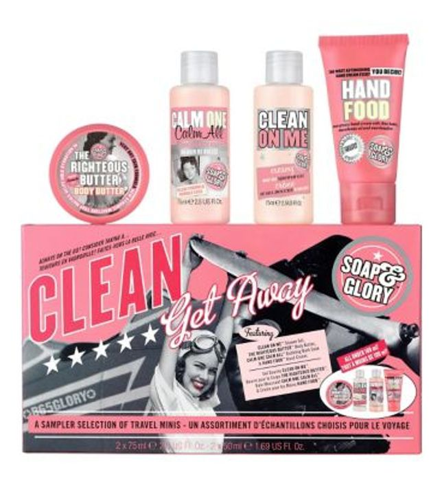 Soap & Glory Clean Get Away Body & Hand Gift Set