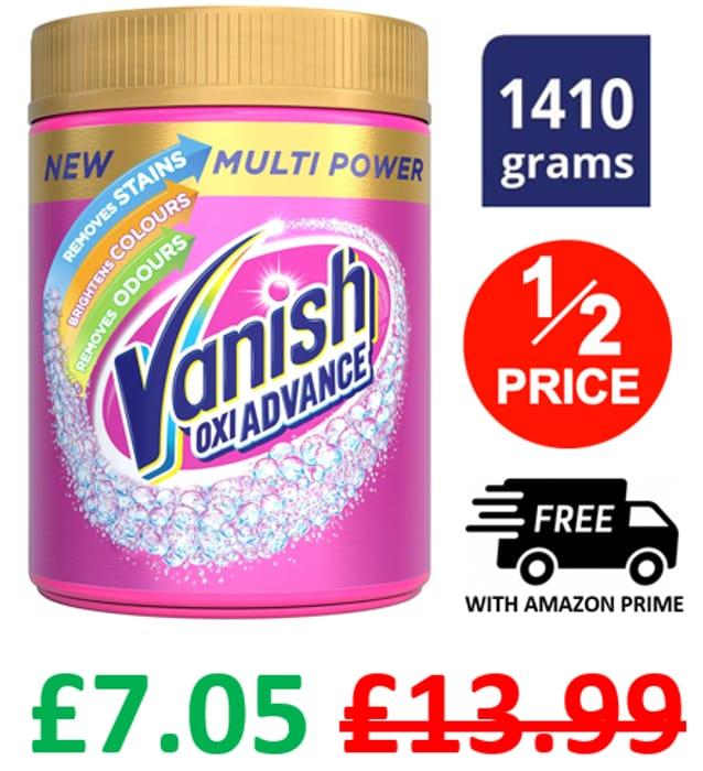 HALF PRICE! Vanish Fabric Stain Remover Gold Oxi Advance Powder, 1.41kg