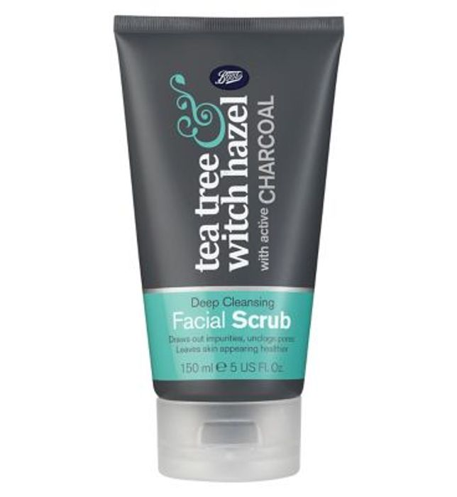 Boots Tea Tree & Witch Hazel Charcoal Facial Scrub