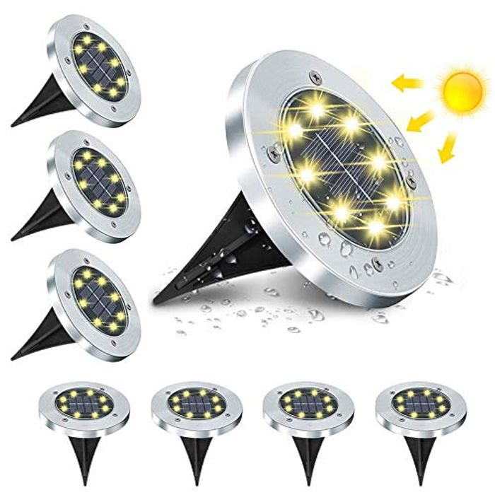 Price Drop! Solar Ground Lights for Outdoor Garden - 8 Pcs