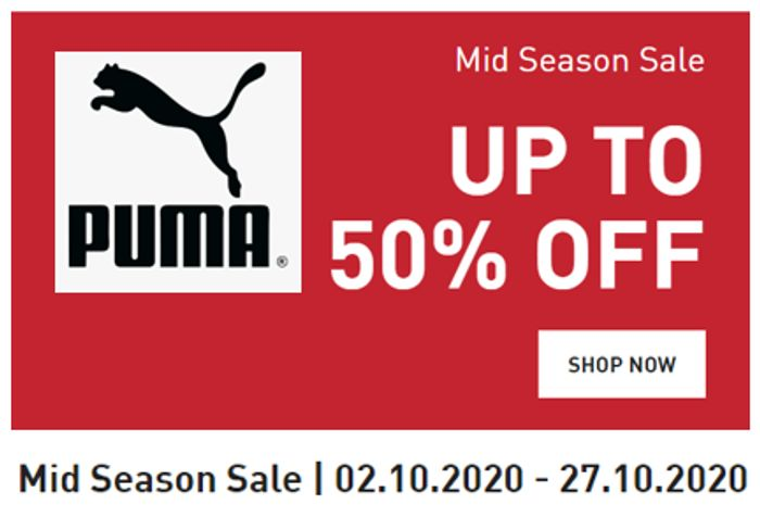 PUMA SALE - up to 50% Discount on Trainers, Sports Clothing & Accessories