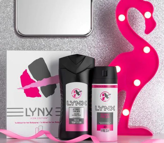 Lynx Attract for Her Shower Gel & Body Spray Duo Gift Set