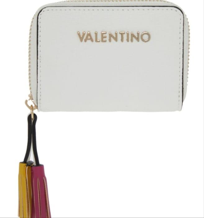 VALENTINO by MARIO VALENTINO White Zip around Purse