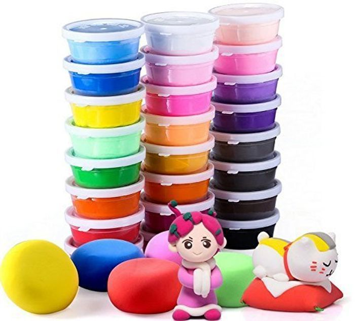 Air Dry Clay, 24 Colors Ultra Light Modeling Clay