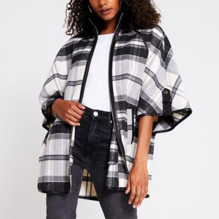 Black Mono Cape Jacket