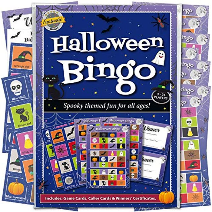 Halloween Bingo Game: Spooky Themed Party Entertainment for Family