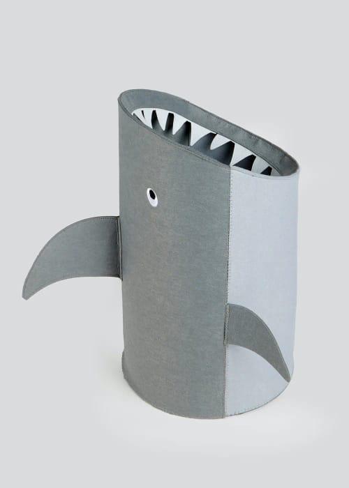 Kids Shark Felt Storage Bin (55cm X 54cm)