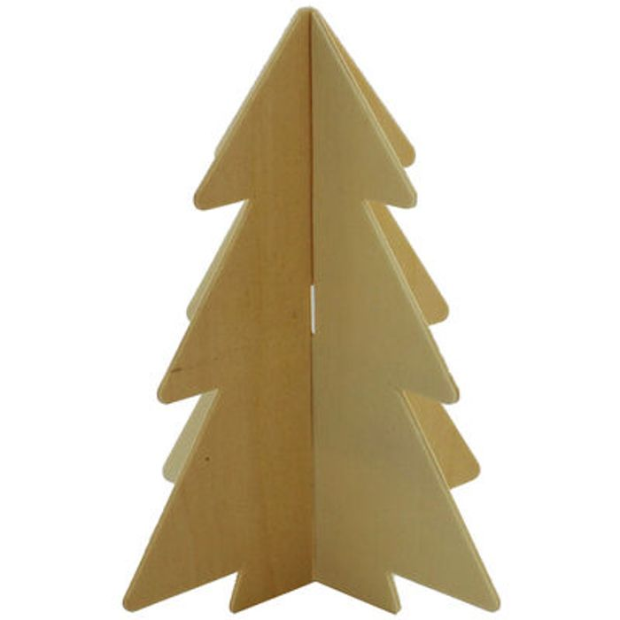 3D Plywood Christmas Tree - 2 Pack