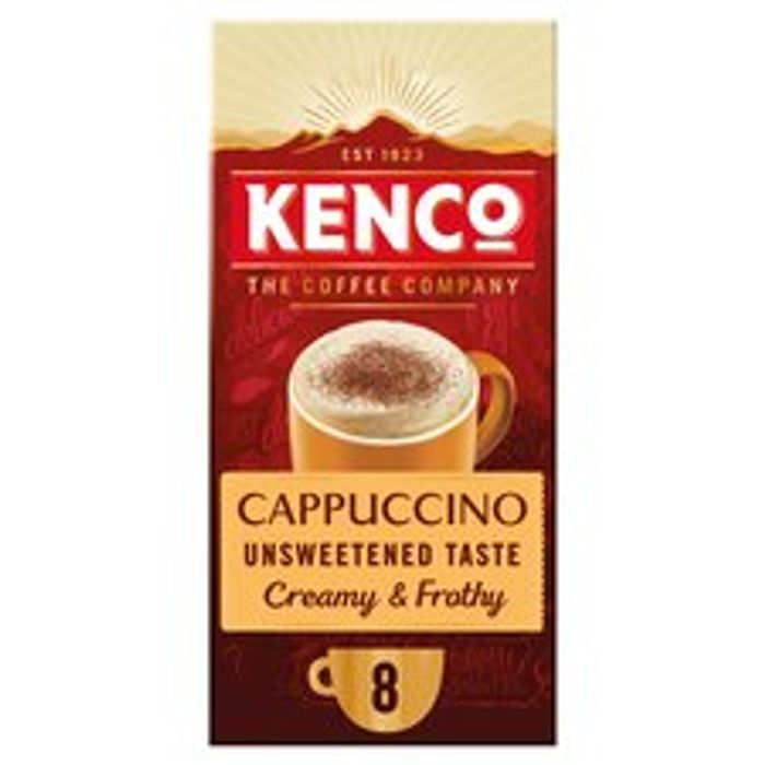Kenco Unsweetened Cappuccino 8 Sachets 112G Clubcard Price