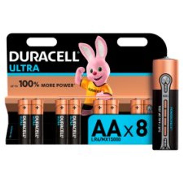 Any 2 for £10 Duracell Ultra 8 Pack