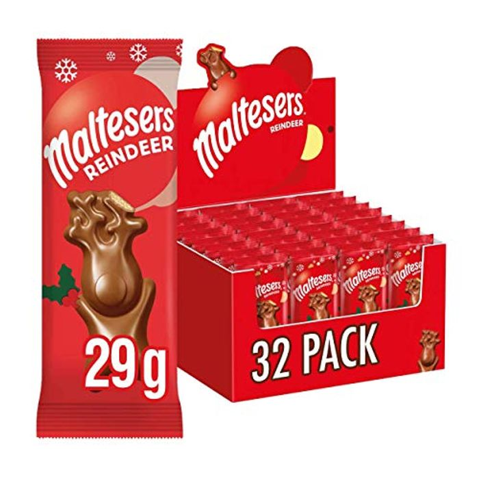 Maltesers Reindeer Chocolate Christmas Treat 29 G, Case of 32