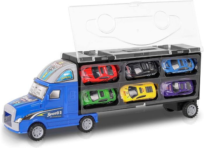 CHEAP! Car Transporter Toy with 12 Cars - Only £6 with Code!