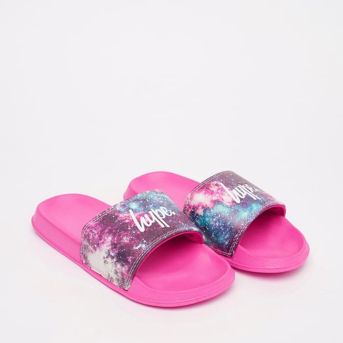 Best Price! Hype - Girls' Pink 'Galactic' Slider Sandals