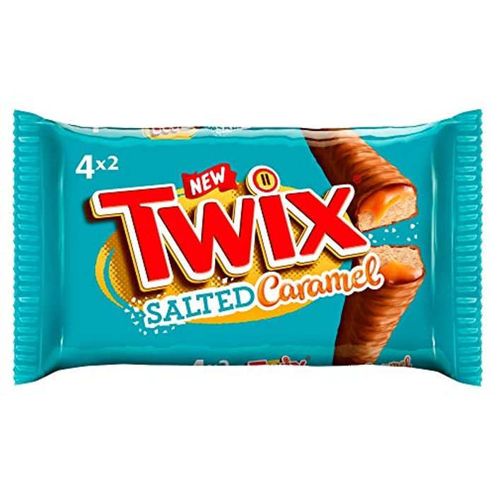 Twix Chocolate Biscuit Bars with Salted Caramel Multipack 4 Bars