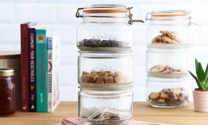 One or Two Kilner Stackable Storage Jar Sets