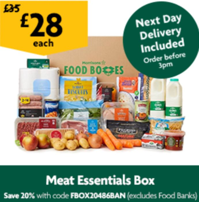 Meat Essentials Box £28 with Code FBOX20486BAN