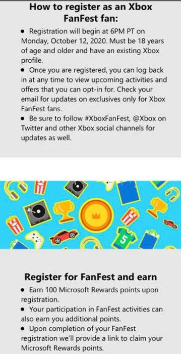 100 Free Microsoft Reward Points & More Points for Activities via Xbox FanFest