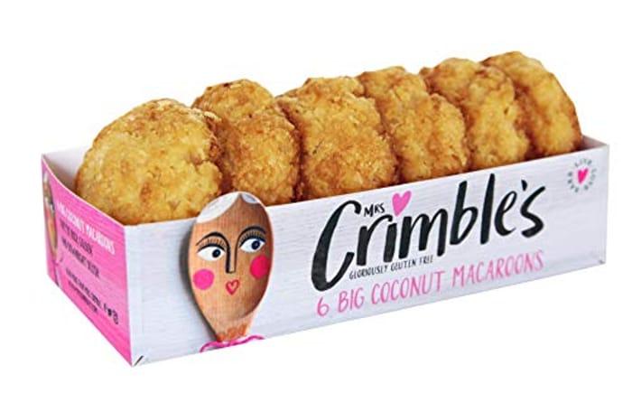 Mrs Crimbles 6 Large Coconut Macaroons, 195 G