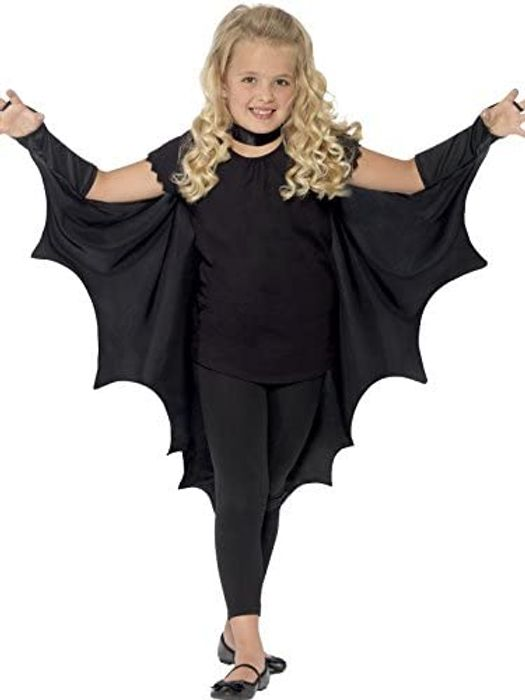 Smiffys Black Bat Wings Cape for KIds