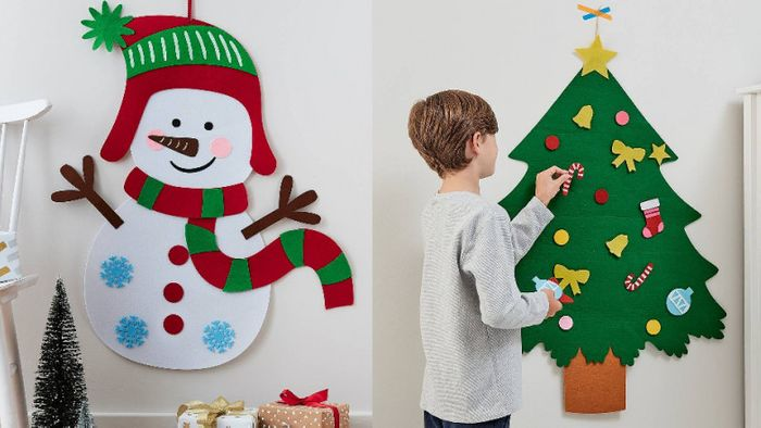 Decorate Your Own Felt Snowman or Christmas Tree Kit