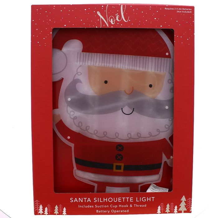 Silhouette Novelty Window Lights  Available in Santa & Elf