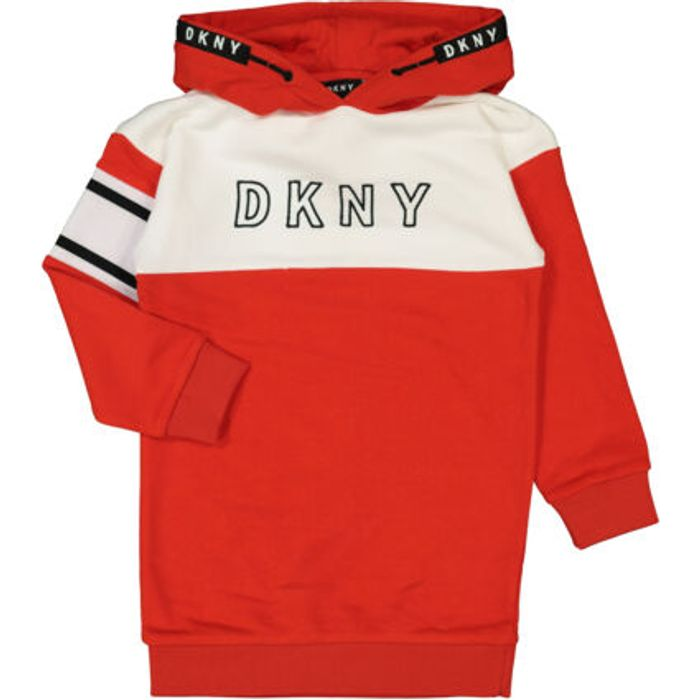 DKNY Red & White Pullover Hoodie