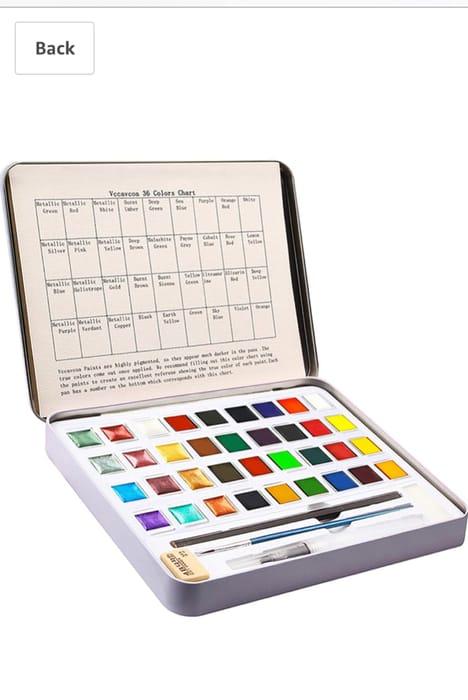 50% off Watercolour Paint Set, 36 Colours